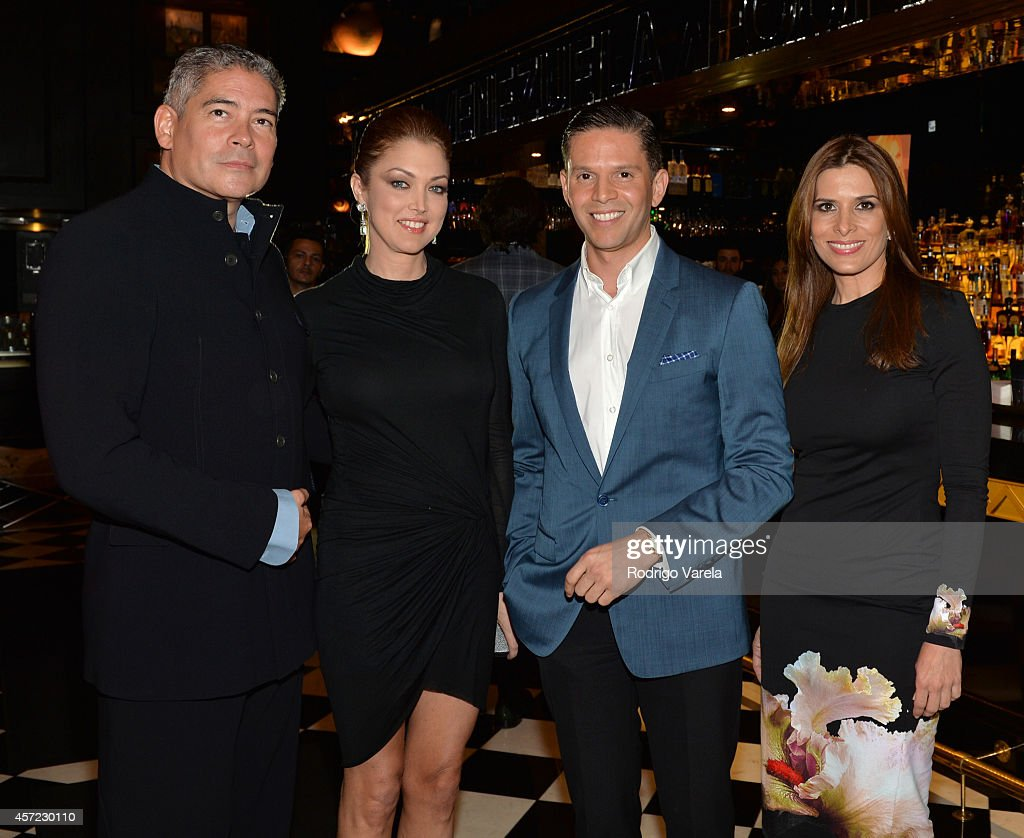 Boris Izaguirre, Santi Chumaceiro, Rodner Figueroa and Geraldine Salomon Pulido attend I Love Venezuelan Foundation Event Cantina La No. 20 at The Icon Brickell on October 14, 2014 in Miami, Florida.