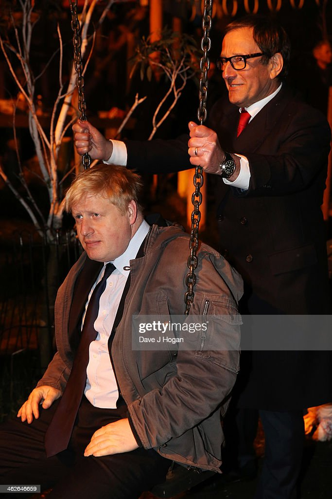 <a gi-track='captionPersonalityLinkClicked' href=/galleries/search?phrase=Boris+Johnson&family=editorial&specificpeople=209016 ng-click='$event.stopPropagation()'>Boris Johnson</a> and <a gi-track='captionPersonalityLinkClicked' href=/galleries/search?phrase=Richard+Desmond&family=editorial&specificpeople=585317 ng-click='$event.stopPropagation()'>Richard Desmond</a> attend a photocall at The Shadwell Community Project on January 14, 2014 in London, England.