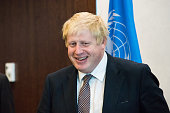 Boris Johnson attending a meeting with Ban Kimoon in the latter's executive office at UN Headquarters Following his participation in a Daesh...