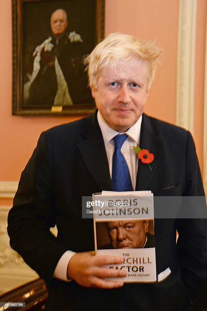 Boris Johnson attends the launch of his new book 'The Churchill Factor: How One Man Made History' at Dartmouth House on October 22, 2014 in London, England.
