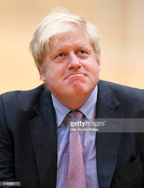 Boris Johnson attends the launch of the Invictus Games at the Copper Box Arena in the Queen Elizabeth Olympic Park on March 6 2014 in London England...