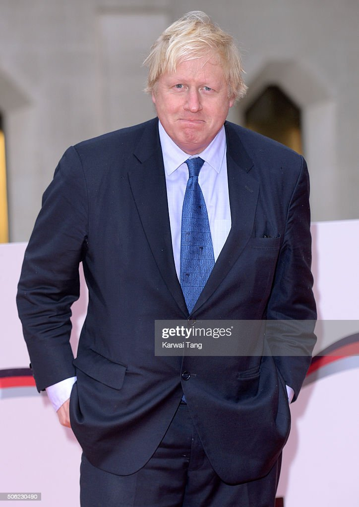Boris Johnson attends the Sun Military Awards at The Guildhall on January 22 2016 in London England