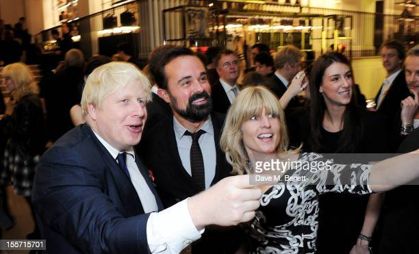 Boris Johnson Evgeny Lebedev and Rachel Johnson attend the London Evening Standard's 1000 Most Influential Londoners at Burberry Regent Street on...