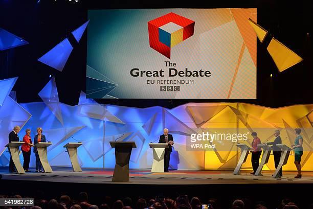 Boris Johnson Gisela Stuart Energy Minister Andrea Leadsom David Dimbleby Scottish Conservative leader Ruth Davidson Mayor of London Sadiq Khan and...