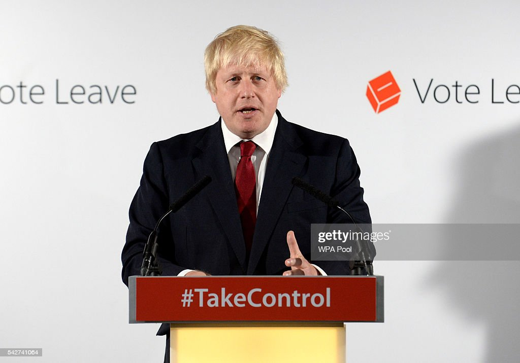 <a gi-track='captionPersonalityLinkClicked' href=/galleries/search?phrase=Boris+Johnson&family=editorial&specificpeople=209016 ng-click='$event.stopPropagation()'>Boris Johnson</a> MP speaks during a press conference following the results of the EU referendum at Westminster Tower on June 24, 2016 in London, England. The results from the historic EU referendum has now been declared and the United Kingdom has voted to LEAVE the European Union.