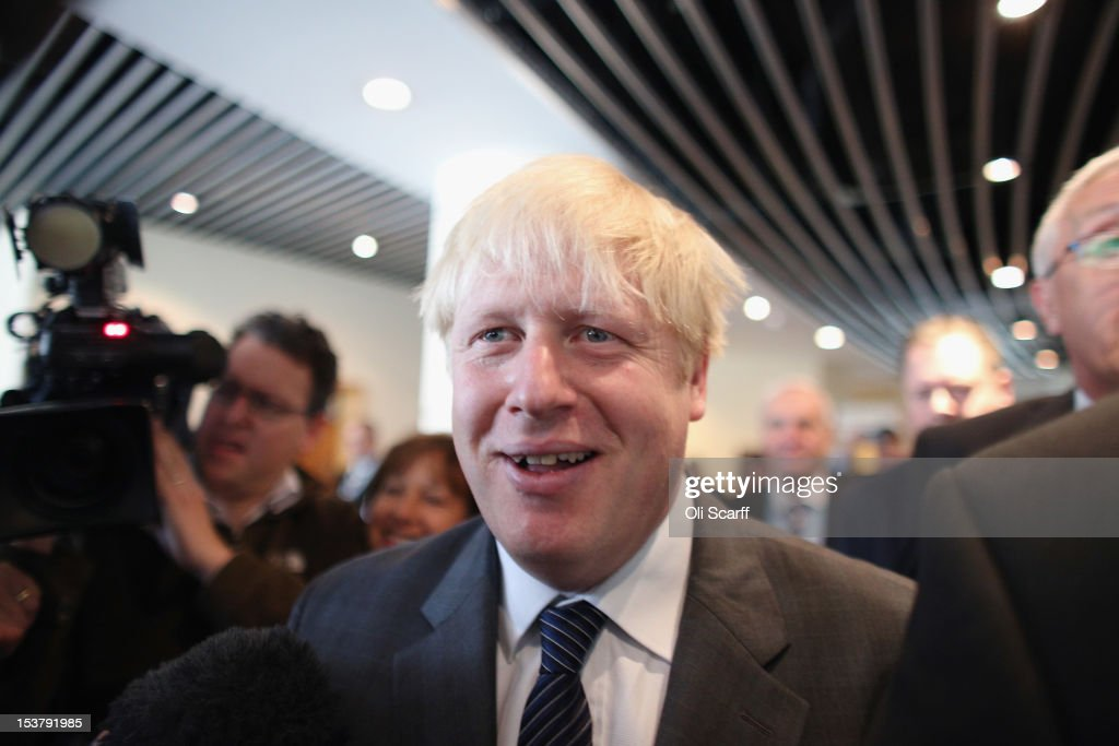 <a gi-track='captionPersonalityLinkClicked' href=/galleries/search?phrase=Boris+Johnson&family=editorial&specificpeople=209016 ng-click='$event.stopPropagation()'>Boris Johnson</a>, the Mayor of London, arrives to deliver his speech to the Conservative party conference in the International Convention Centre on October 9, 2012 in Birmingham, England. Today's penultimate day of the annual, four-day Conservative party conference features speeches from Cabinet ministers and the Mayor of London.