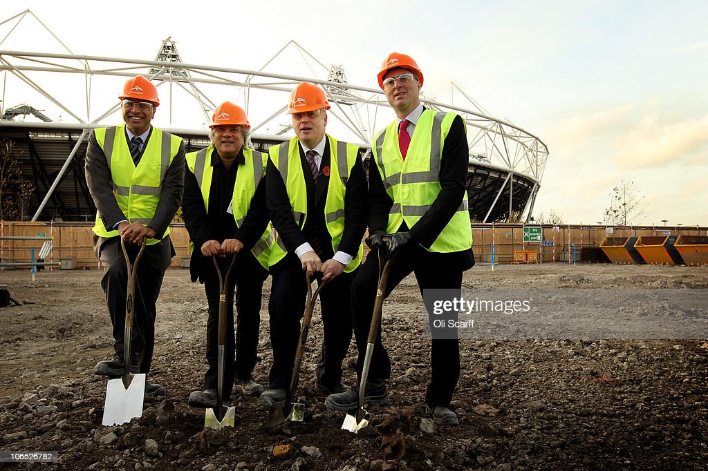 Boris Johnson the Mayor of London Lakshmi Mittal the CEO and Chairman of ArcelorMittal Andrew Altman the Chief Executive of the Olympic Park Legacy...