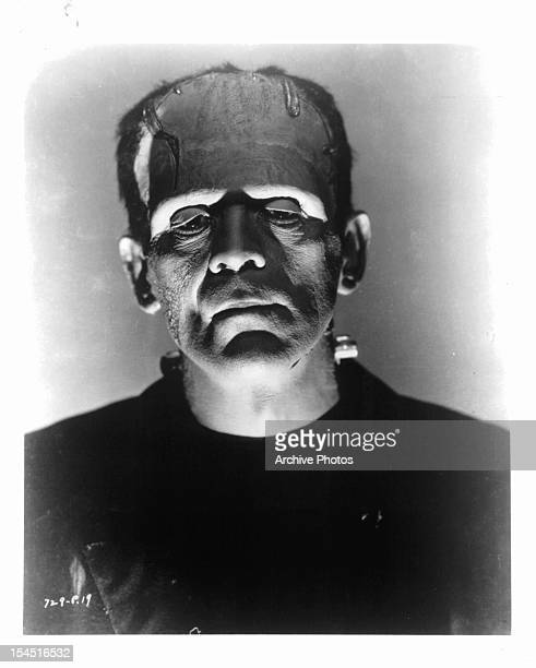 Boris Karloff as the monster in publicity portrait for the film 'Frankenstein' 1931