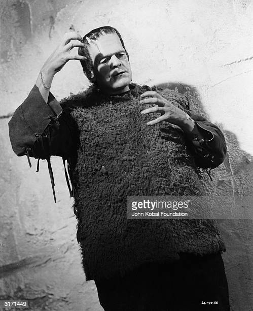 Boris Karloff as The Monster in 'Son of Frankenstein' directed by Rowland V Lee for Universal with makeup by Jack P Pierce