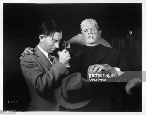 Boris Karloff during filming of 'Bride Of Frankenstein' 1935