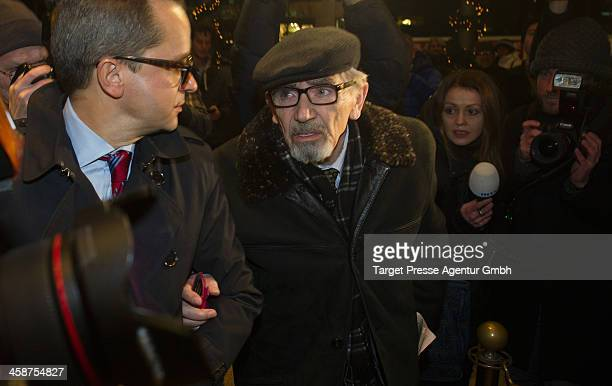 Boris Khodorkovsky the father of Mikhail Kodorkovsky speaks to the media outside Hotel Adlon on December 21 2013 in Berlin Germany Former Russian oil...