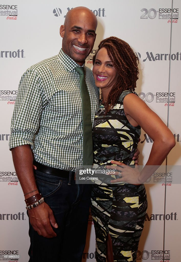 Boris Kodjoe and Nicole Ari Parker attend Totally Tripping Panel Discussion during ESSENCE Festival presented by Marriott International Laz Alonso...