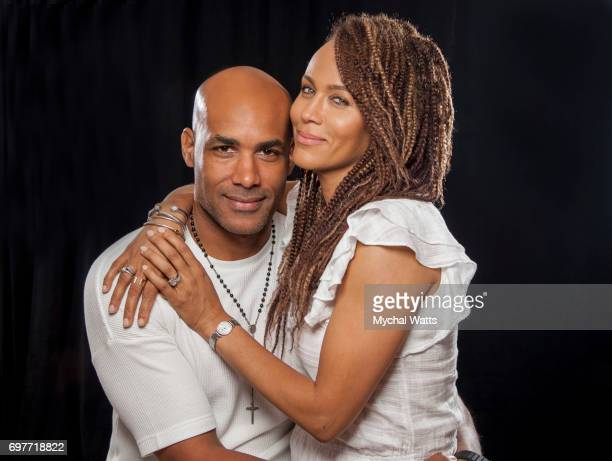 Boris Kodjoe and Nicole Ari Parker Pose for a Portrait on Day 3 of the American Black Film Festival on June 14 2017 in Miami Florida Photo by Mychal...