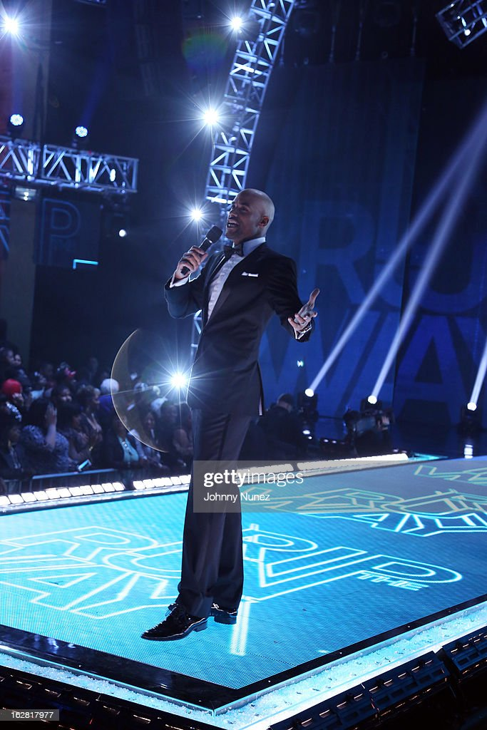 Boris Kodjoe hosts BET's Rip The Runway 2013 at Hammerstein Ballroom on February 27, 2013, in New York City.