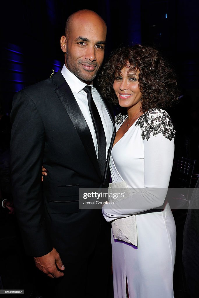 Boris Kodjoe Nicole Ari Parker and attend the Inaugural Ball hosted by BET Networks at Smithsonian American Art Museum & National Portrait Gallery on January 21, 2013 in Washington, DC.