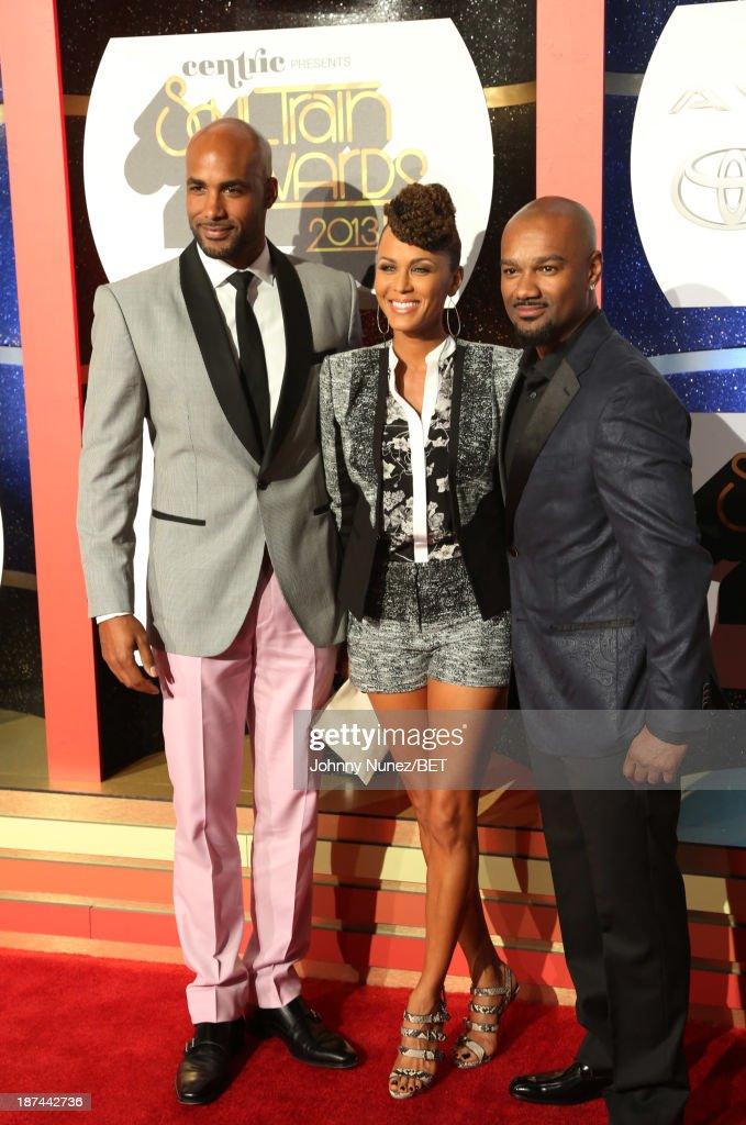 Boris Kodjoe Nicole Ari Parker Kodjoe and Big Tigger attend the 2013 Soul Train Awards on November 8 2013 in Las Vegas Nevada