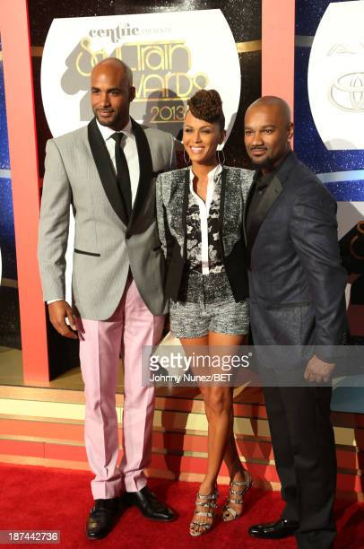 Boris Kodjoe Nicole Ari Parker Kodjoe and Big Tigger attend the 2013 Soul Train Awards on November 8 2013 in Las Vegas Nevada