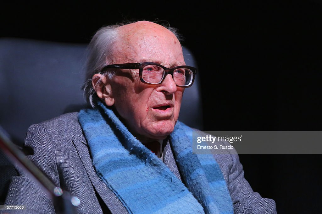 Boris Pahor attends the 'Due Volte Delta' Press Conference during the 9th Rome Film Festival on October 23 2014 in Rome Italy