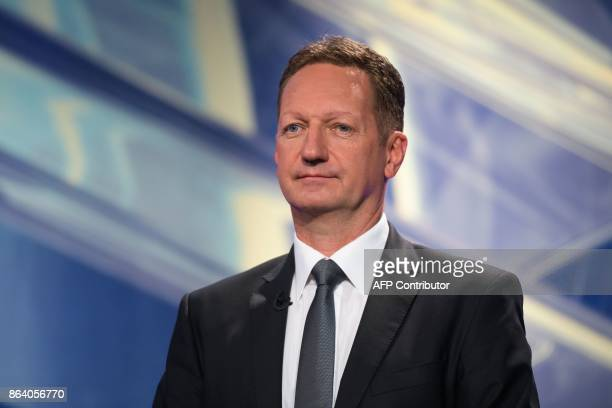 Boris Popovic presidential candidate and Mayor of Koper attends the last TV Presidential Debate ahead of the Presidential Elections in Ljubljana on...