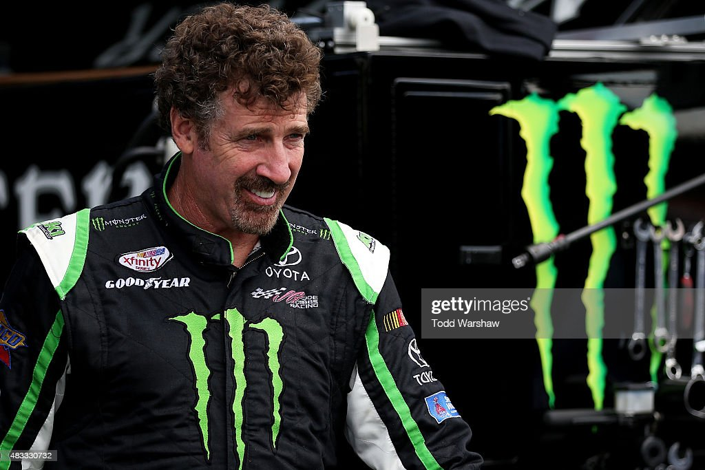 <a gi-track='captionPersonalityLinkClicked' href=/galleries/search?phrase=Boris+Said&family=editorial&specificpeople=240525 ng-click='$event.stopPropagation()'>Boris Said</a>, driver of the #54 Monster Energy Toyota, stands in the garage area during practice for the NASCAR XFINITY Series Zippo 200 at Watkins Glen International on August 7, 2015 in Watkins Glen, New York.