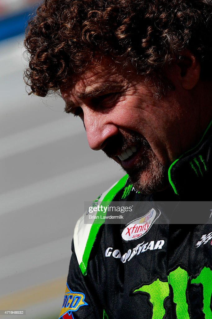 <a gi-track='captionPersonalityLinkClicked' href=/galleries/search?phrase=Boris+Said&family=editorial&specificpeople=240525 ng-click='$event.stopPropagation()'>Boris Said</a>, driver of the #54 Monster Energy Toyota, stands on the grid during qualifying for the NASCAR XFINITY Series Winn Dixie 300 at Talladega Superspeedway on May 2, 2015 in Talladega, Alabama.
