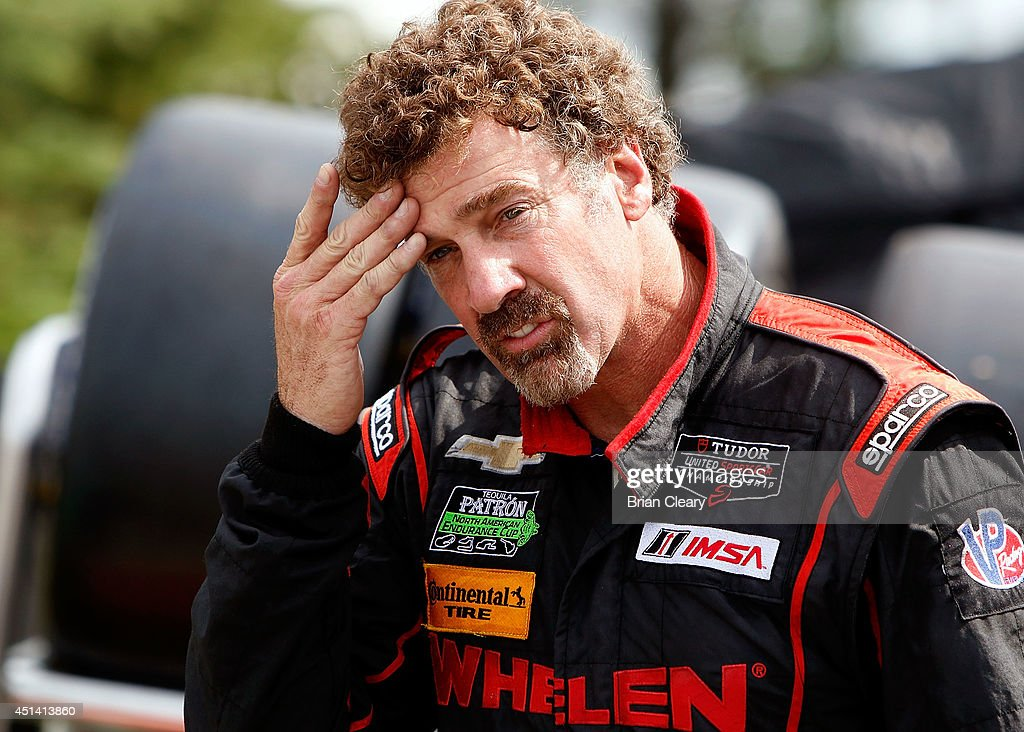 <a gi-track='captionPersonalityLinkClicked' href=/galleries/search?phrase=Boris+Said&family=editorial&specificpeople=240525 ng-click='$event.stopPropagation()'>Boris Said</a> is shown in the pits before qualifying for the Sahlen's Six Hours Of The Glen at Watkins Glen International on June 28, 2014 in Watkins Glen, New York.