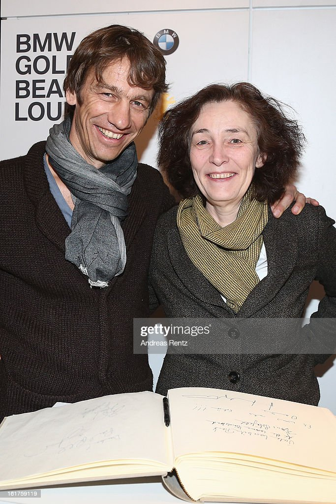 Boris Schoenfelder and Hermine Huntgeburth attend 'BMW Golden Bear Lounge' at the 63rd Berlinale International Film Festival on February 15, 2013 in Berlin, Germany.