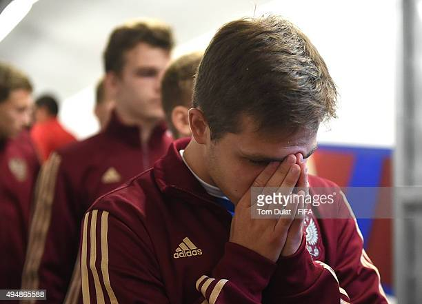 Boris Tsygankov of Russia during the FIFA U17 World Cup Chile 2015 Round of 16 match between Russia and Ecuador at Estadio Municipal de Concepcion on...
