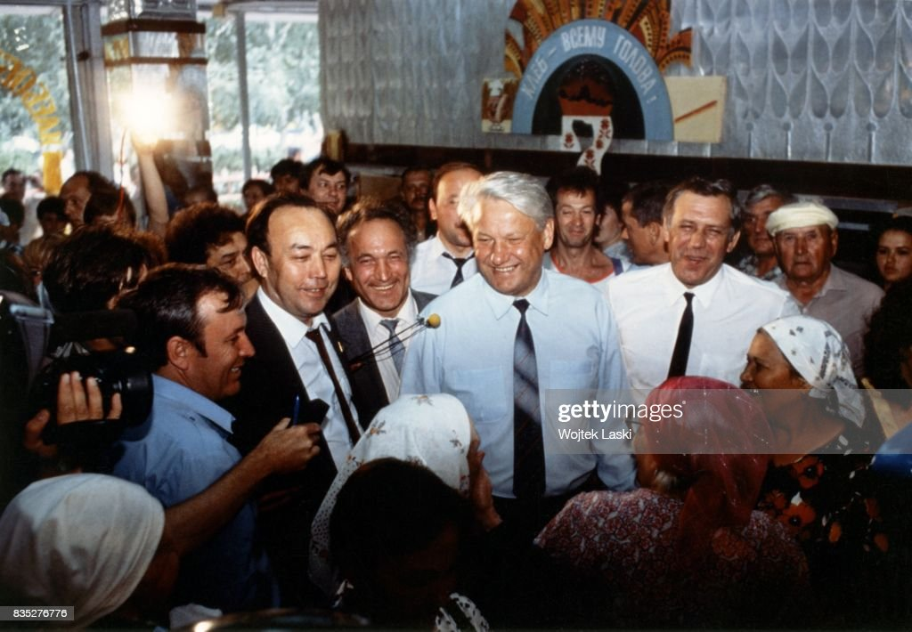 Boris Yeltsin during his presidential campaign in Russia, 1991.