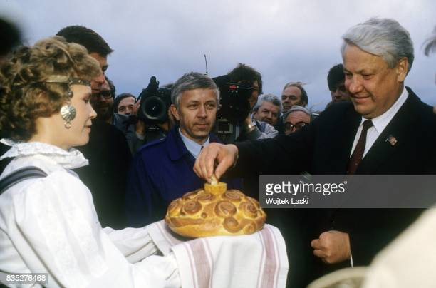 Boris Yeltsin's campaign before the first presidential elections in the Russian Soviet Federative Socialist Republic Boris Yeltsin is welcomed with...