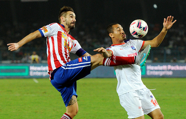 Borja Fernandez vying for the ball (Picture Courtesy ISL)