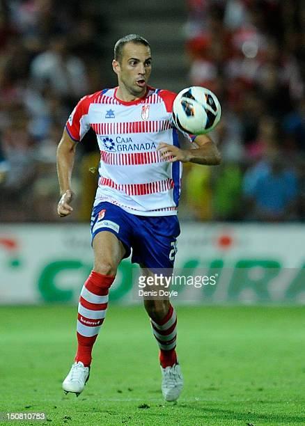 Borja Gomez of Granada controls the ball during the La Liga match between Granada CF and Sevilla FC at Estadio Nuevo Los Carmenes on August 26 2012...