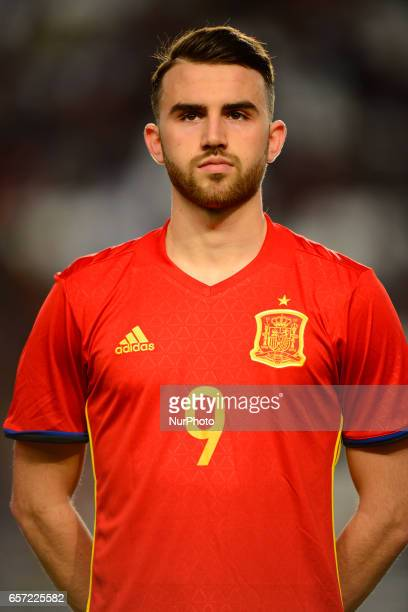 Borja Mayoral during the friendly match of national teams U21 of Spain vs Denmark in stadium Nueva Condomina Murcia SPAIN March 23rd 2017
