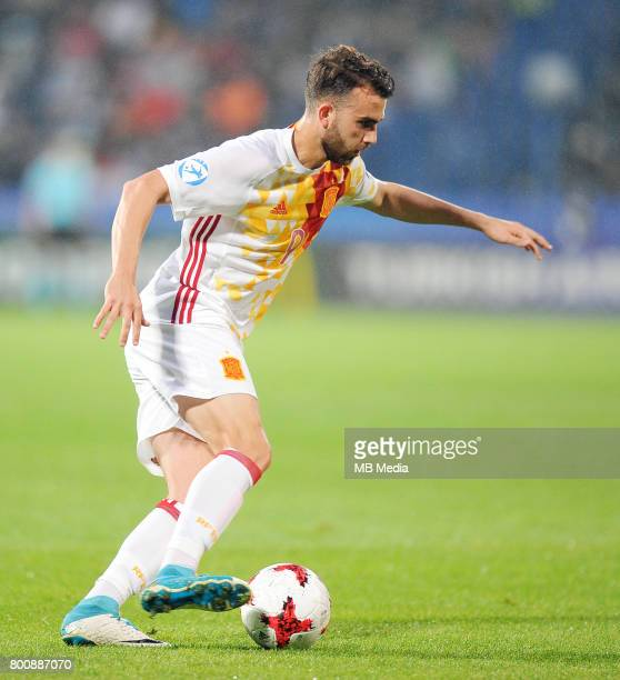 Borja Mayoral during the UEFA European Under21 match between Serbia and Spain at Arena Bydgoszcz on June 23 2017 in Bydgoszcz Poland