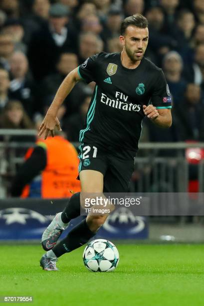 Borja Mayoral of Real Madrid controls the ball during the UEFA Champions League group H match between Tottenham Hotspur and Real Madrid at Wembley...