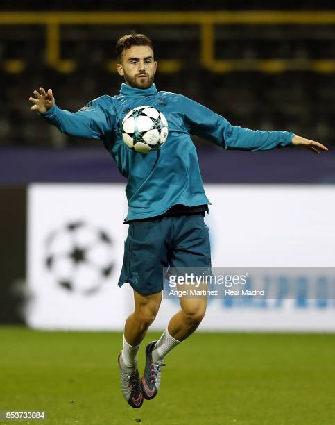 Borja Mayoral of Real Madrid in action during a training session at Signal Iduna Park on September 25 2017 in Dortmund Germany