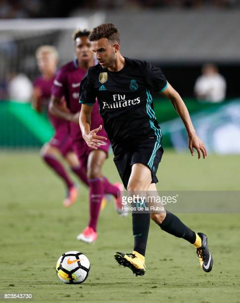 Borja Mayoral of Real Madrid in action during the International Champions Cup 2017 match between Manchester City v Real Madrid at Memorial Coliseum...