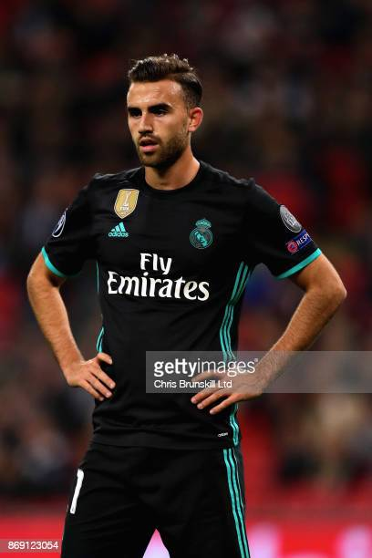 Borja Mayoral of Real Madrid looks on during the UEFA Champions League group H match between Tottenham Hotspur and Real Madrid at Wembley Stadium on...