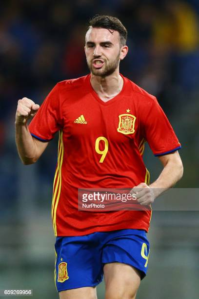 Borja Mayoral of Spain at Olimpico Stadium in Rome Italy on March 27 2017