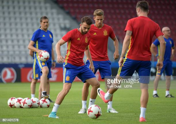 Borja Mayoral of Spain during a training session on June 26 2017 in Krakow Poland