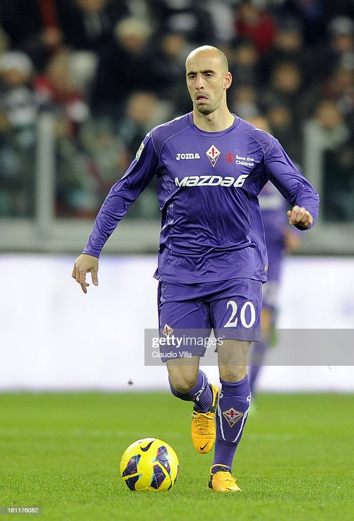 Borja Valero of ACF Fiorentina in action during the Serie A match between Juventus FC and ACF Fiorentina at Juventus Arena on February 9, 2013 in Turin, Italy.