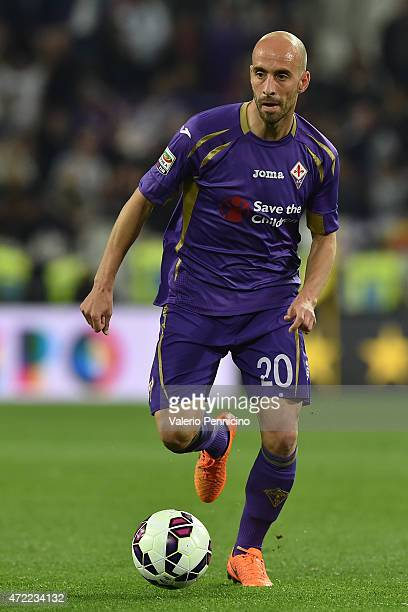 Borja Valero of ACF Fiorentina in action during the Serie A match between Juventus FC and ACF Fiorentina at Juventus Arena on April 29 2015 in Turin...