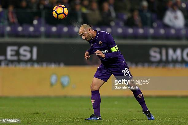 Borja Valero of ACF Fiorentina in action during the Serie A match between ACF Fiorentina and US Citta di Palermo at Stadio Artemio Franchi on...