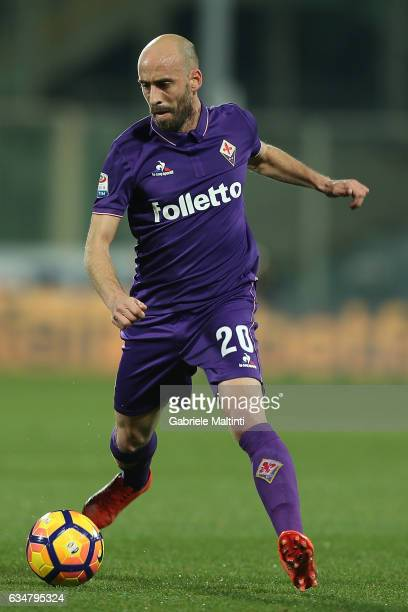 Borja Valero of ACF Fiorentina in action during the Serie A match between ACF Fiorentina and Udinese Calcio at Stadio Artemio Franchi on February 11...