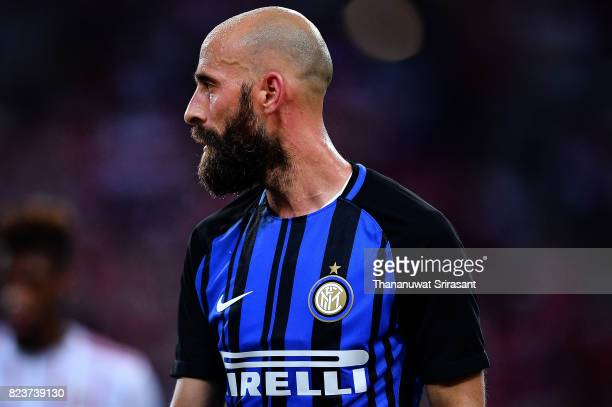 Borja Valero of FC Interernazionale looks during the International Champions Cup match between FC Bayern Munich and FC Internazionale at National...