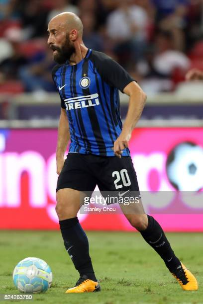 Borja Valero of FC Internazionale FC in action during the International Champions Cup match between FC Internazionale and Chelsea FC at National...