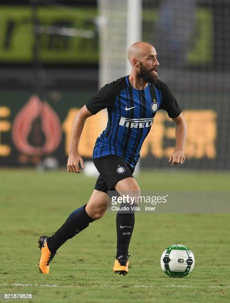 Borja Valero of FC Internazionale in action during the 2017 International Champions Cup match between FC Internazionale and Olympique Lyonnais at...