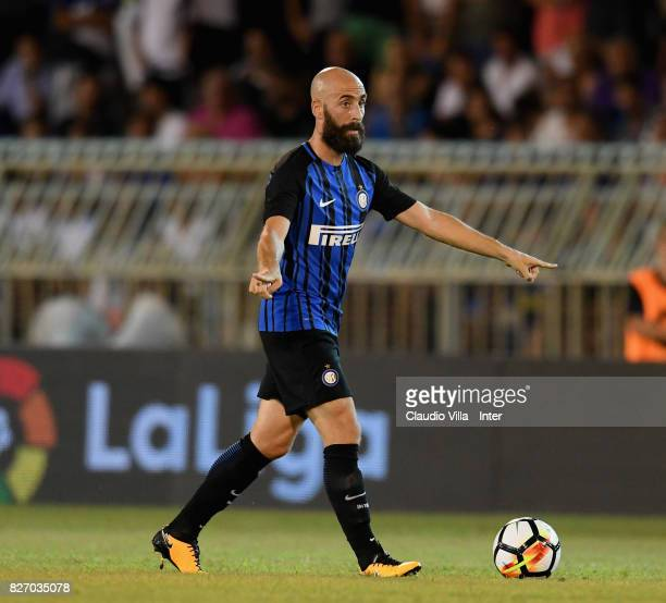 Borja Valero of FC Internazionale in action during the PreSeason Friendly match between FC Internazionale and Villareal CF at Stadio Riviera delle...