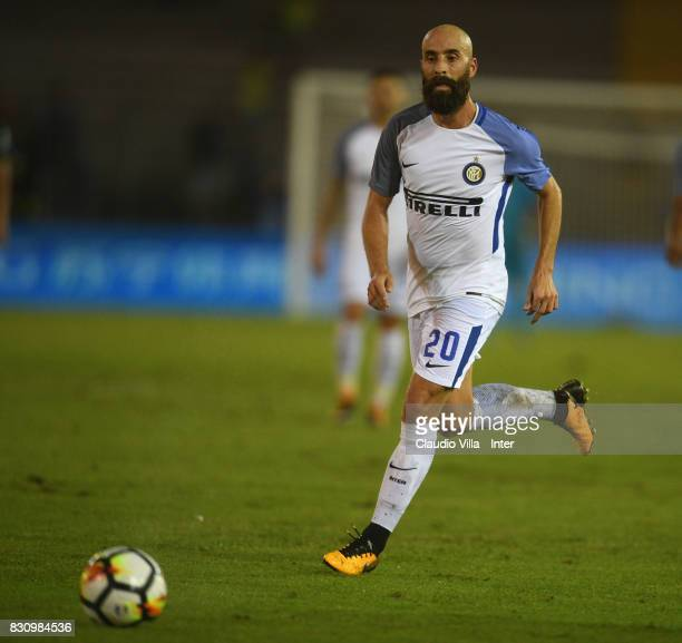 Borja Valero of FC Internazionale in action during the PreSeason Friendly match between FC Internazionale and Real Betis at Stadio Via del Mare on...