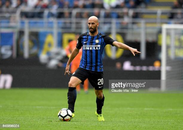 Borja Valero of FC Internazionale in action during the Serie A match between FC Internazionale and Spal at Stadio Giuseppe Meazza on September 10...